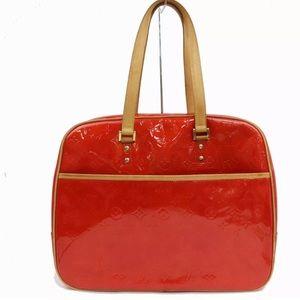 ❤️👠🎒Louis Vuitton Red Vernis Sutton handbag GUC